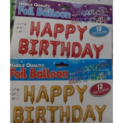 Balon folie Happy Birthda..