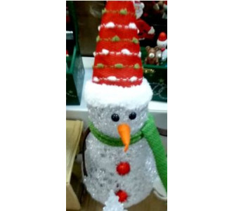 Ornament silicon 15 cm cu led