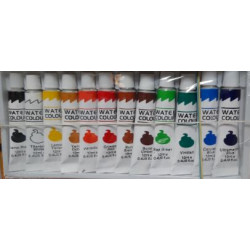 Acuarele tempera 12 nuante 12ml